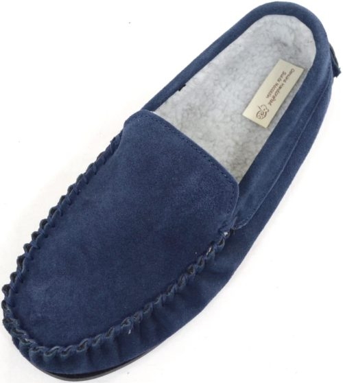 Snugrugs Berber Fleece Moccasins Navy