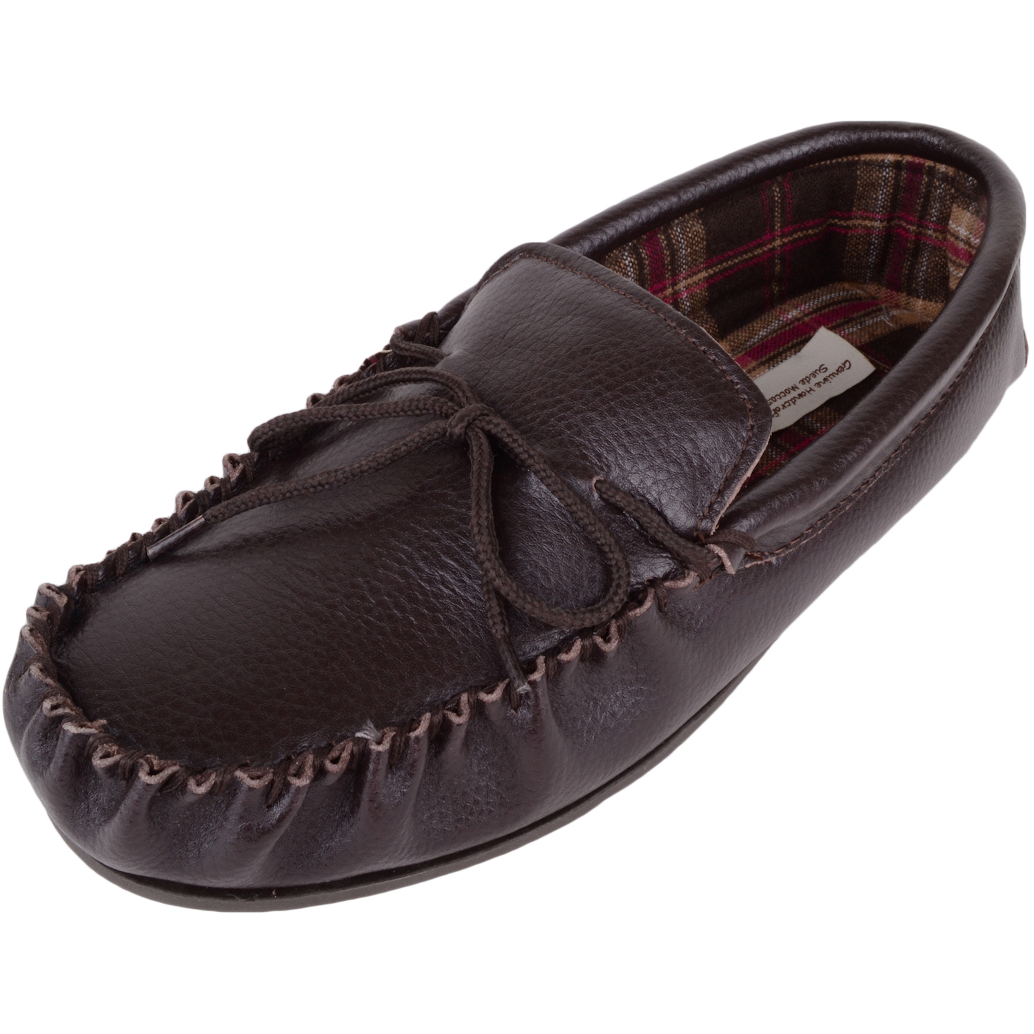 Snugrugs - Leather Cotton Lined Moccasins - Dark Brown