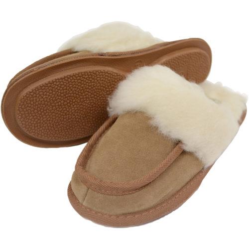 Snugrugs - Ladies Wool Lined Suede Mule - Chestnut