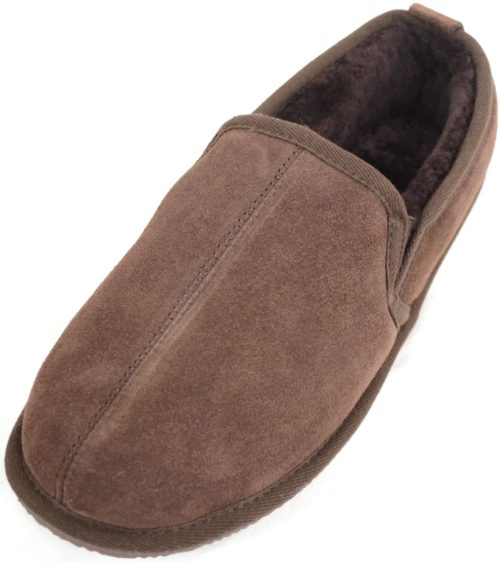 Bertie Mens Sheepskin Slippers Brown