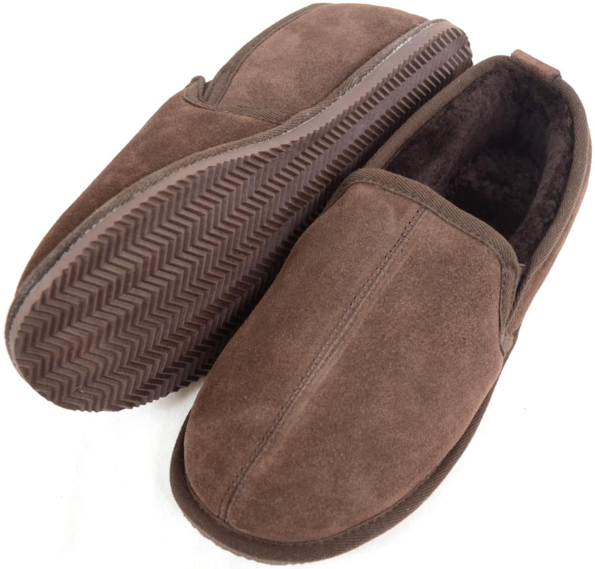 Bertie Mens Sheepskin Slippers With Hard Sole