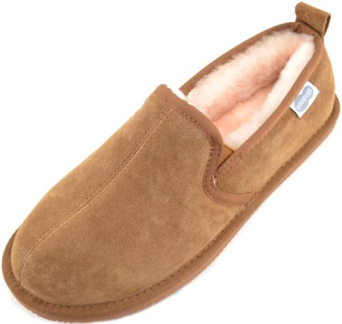 Bertie Mens Sheepskin Slippers Chestnut
