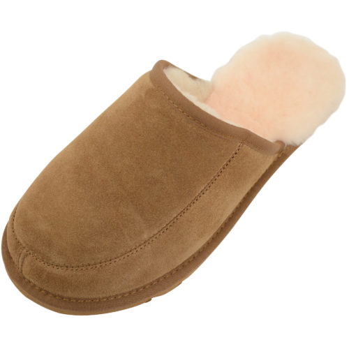 Snugrugs - Mens Sheepskin Mule Slipper - Chestnut