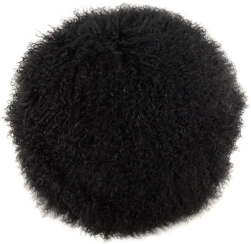 Snugrugs Mongolian Cushion – Round – Black