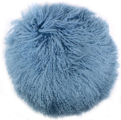 Snugrugs Mongolian Cushion – Round – Light Blue