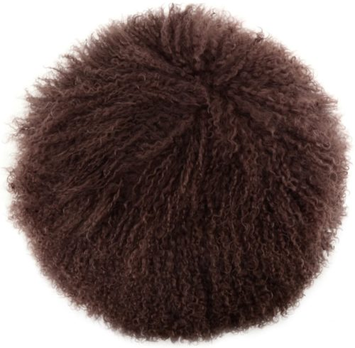Snugrugs Mongolian Cushion – Round – Brown