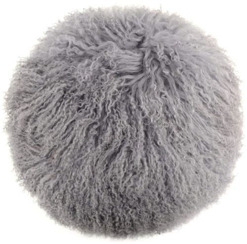 Snugrugs Mongolian Cushion – Round – Grey