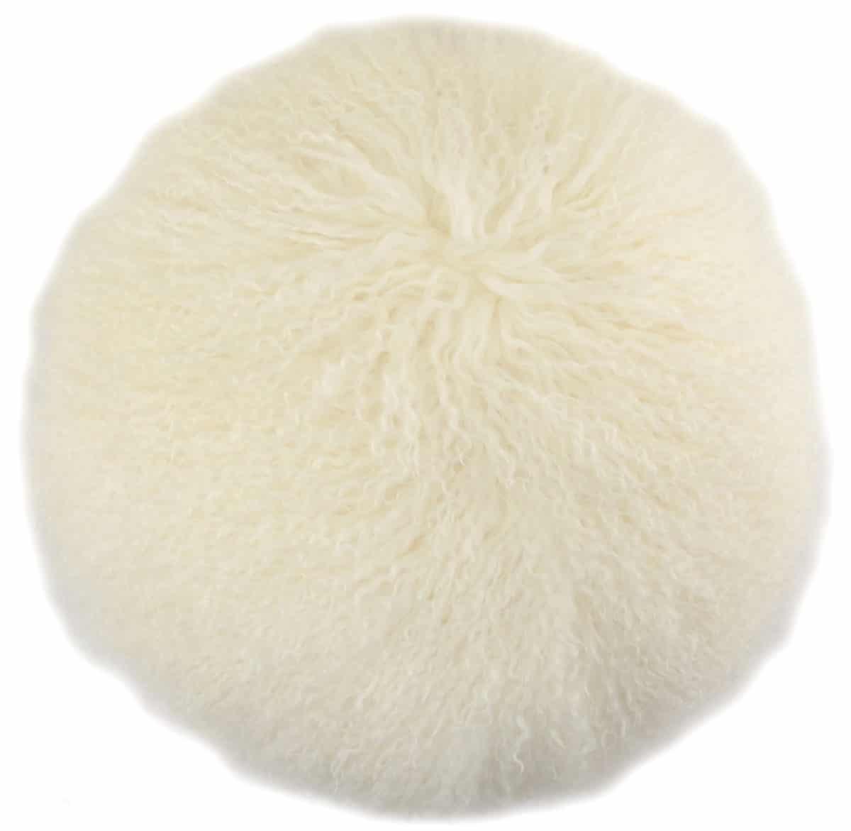 Snugrugs Mongolian Cushion – Round – Ivory