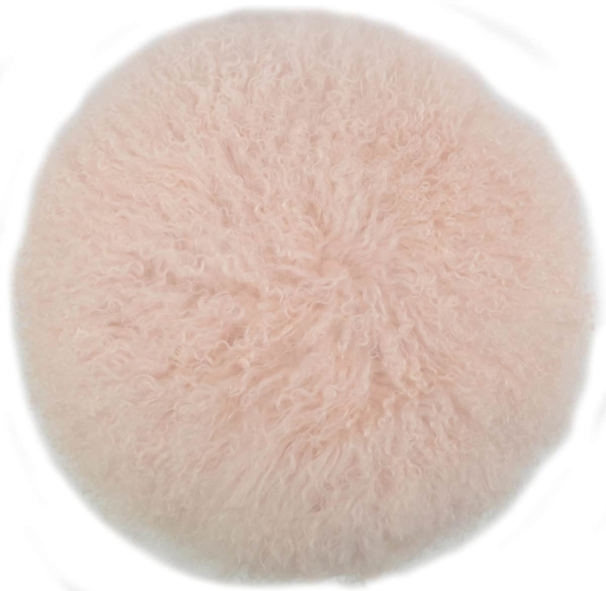 Snugrugs Mongolian Cushion – Round – Light Pink