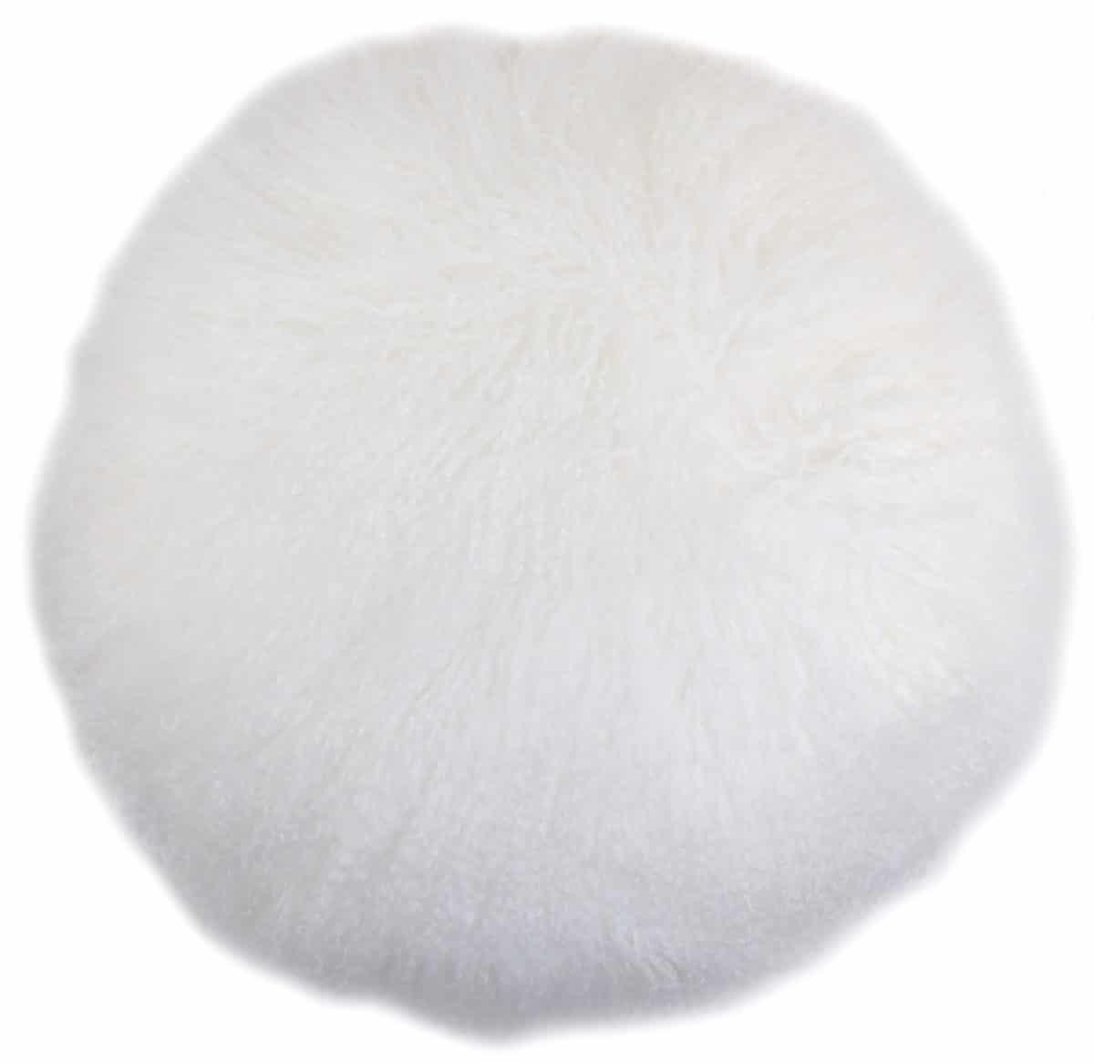Snugrugs Mongolian Cushion – Round – White