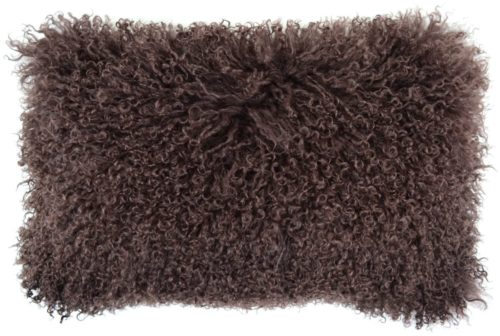 Snugrugs Mongolian Sheepskin Cushion 30cm x 50cm – Brown