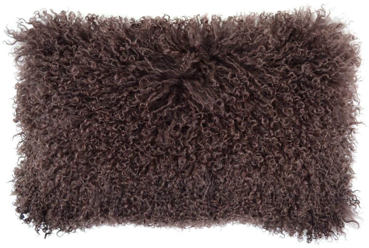 Snugrugs Mongolian Sheepskin Cushion 30cm x 50cm – Brown