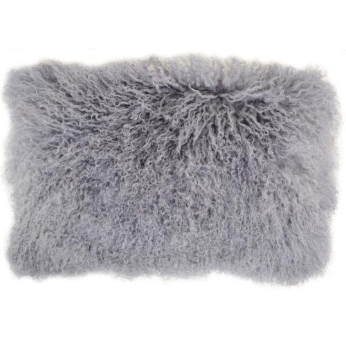 Snugrugs Mongolian Sheepskin Cushion 30cm x 50cm – Grey