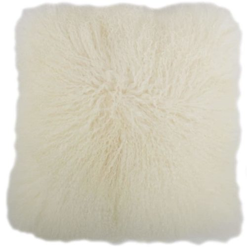 Snugrugs Mongolian Sheepskin Cushion 40cm x 40cm – Ivory
