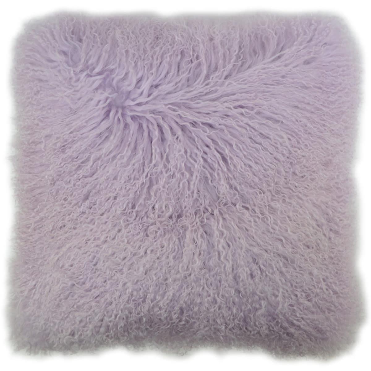 Snugrugs Mongolian Sheepskin Cushion 40cm x 40cm – Lilac