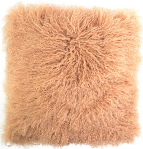 Snugrugs Mongolian Sheepskin Cushion 40cm x 40cm – Taupe