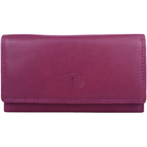 Leather Matinee Style Bi-Fold Purse RFID Protected