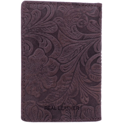 Leather Credit Card / ID Holder RFID Protected