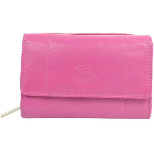 Soft Nappa Leather Zip-Around Purse