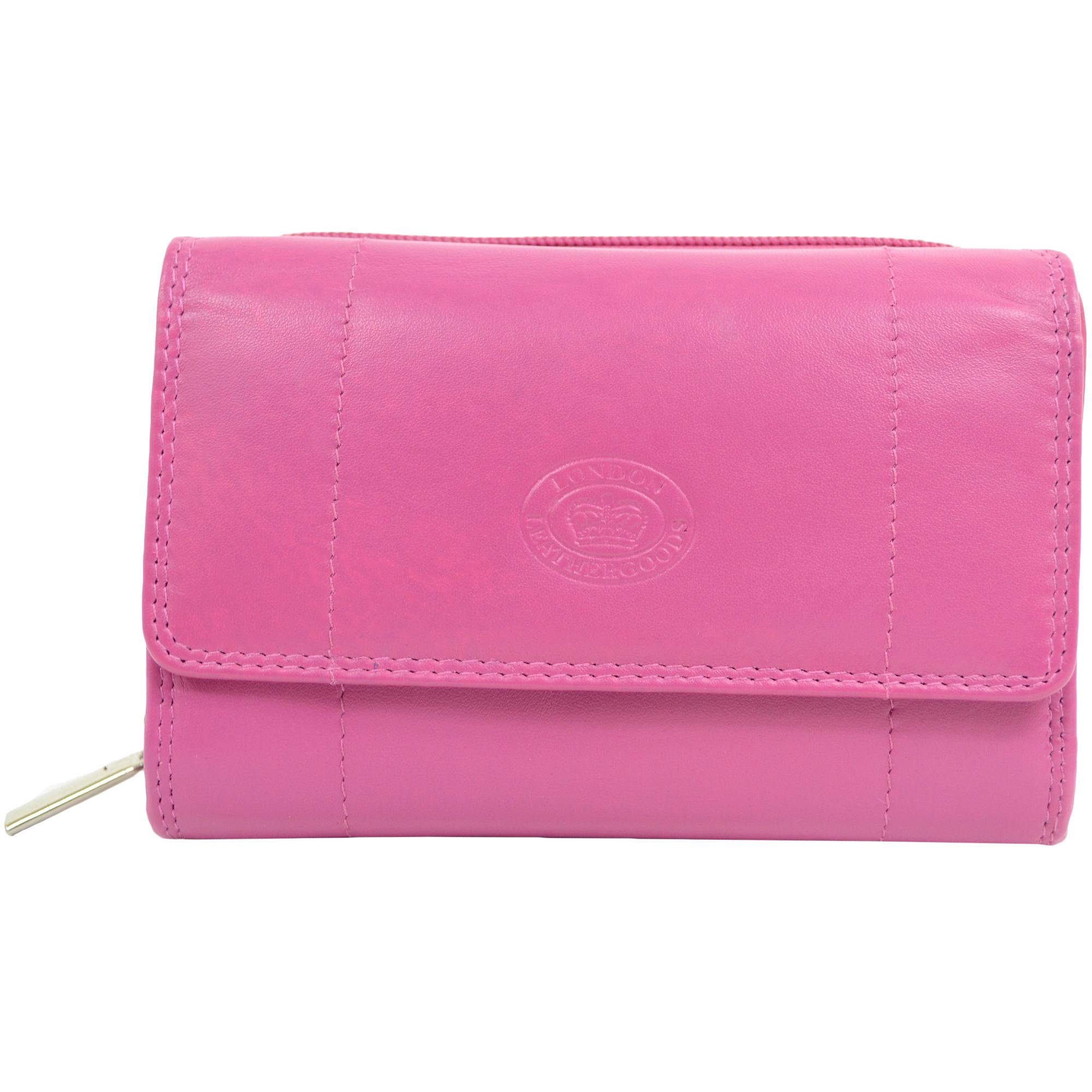 Soft Nappa Leather Zip-Around Purse
