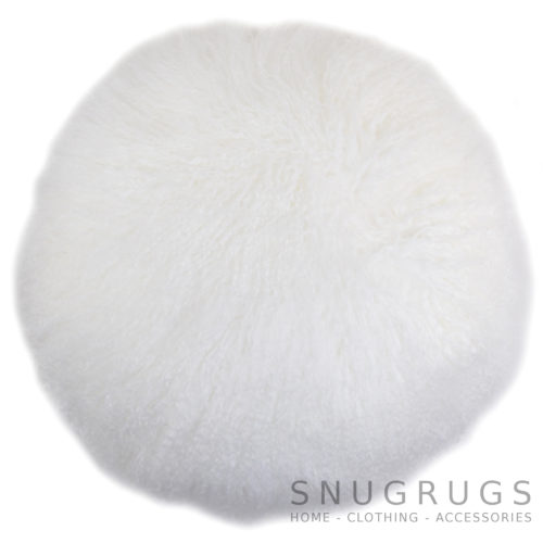 Snugrugs Mongolian Cushion – Round – Whit