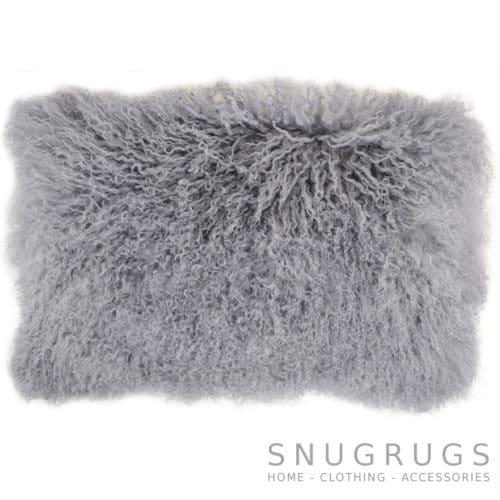 Snugrugs Mongolian Sheepskin Cushion 30cm x 50cm – Grey