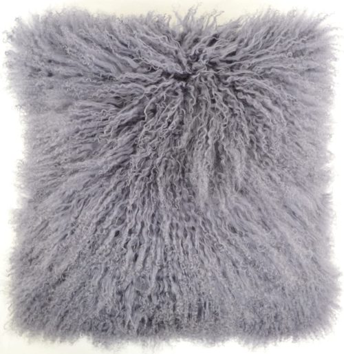 Snugrugs Mongolian Sheepskin Cushion 40cm x 40cm – Grey