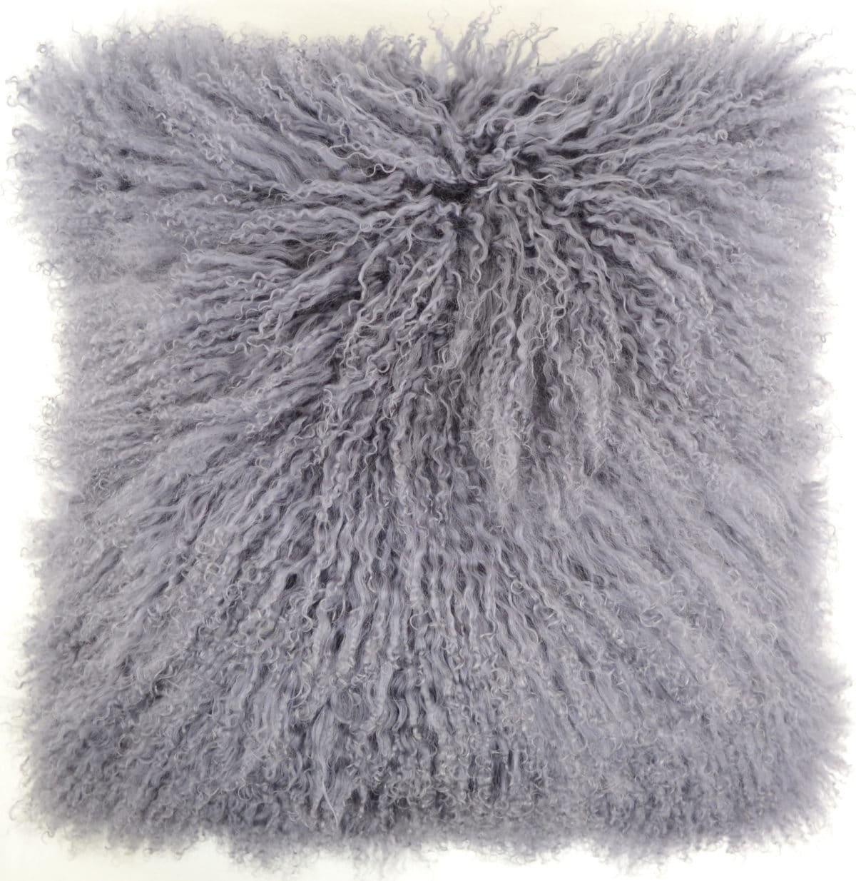 Snugrugs Mongolian Sheepskin Cushion 40cm x 40cm – Grey