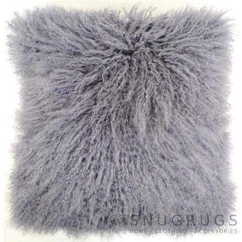 Snugrugs Mongolian Sheepskin Cushion 40cm x 40cm – Gre