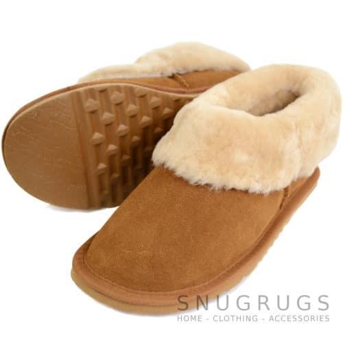 Lottie - Luxury Sheepskin Slipper Boot - Chestnut