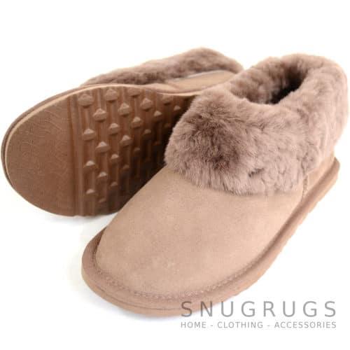 Lottie - Luxury Sheepskin Slipper Boot - Mink