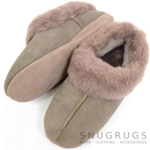Cassie - Luxury Sheepskin Slipper Boot - Vole