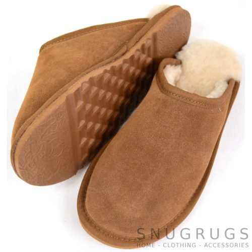 Taylor - Sheepskin Mule Slipper - Chestnut