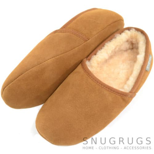 Harry - Suede Sole Sheepskin Slippers - Chestnut