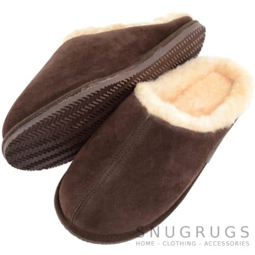 Newbury - Sheepskin Mule Slipper - Chocolate
