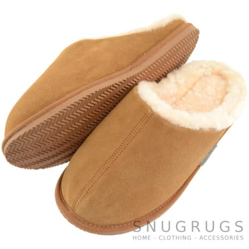 Newbury - Sheepskin Mule Slipper - Chestnut