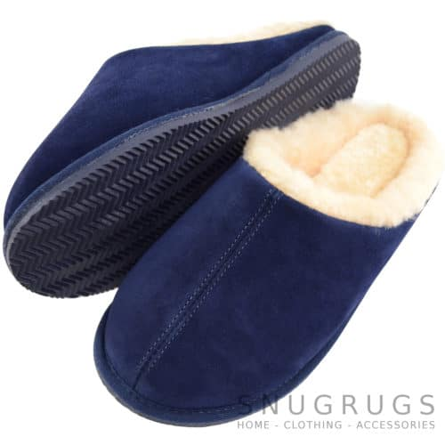 Newbury - Sheepskin Mule Slipper - Navy