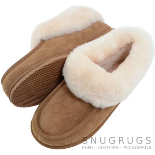 Betsy - Sheepskin Slipper Boot - Chestnut