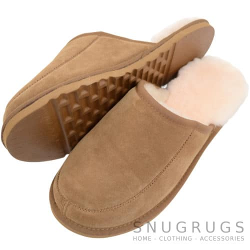 Curtis - Sheepskin Mule Slipper - Chestnut
