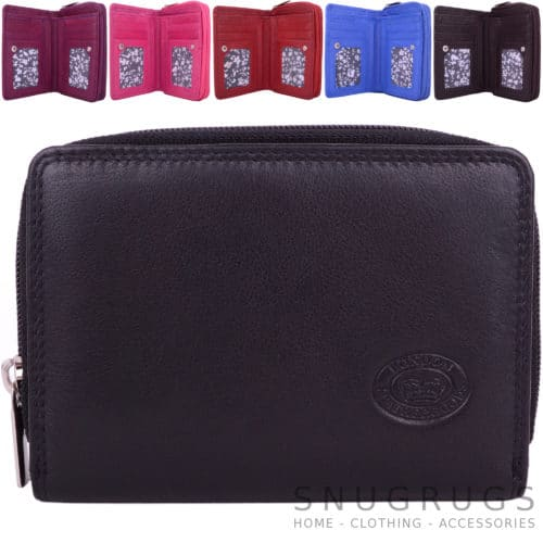 RFID Protected Leather Money / Coin Holder / Purse