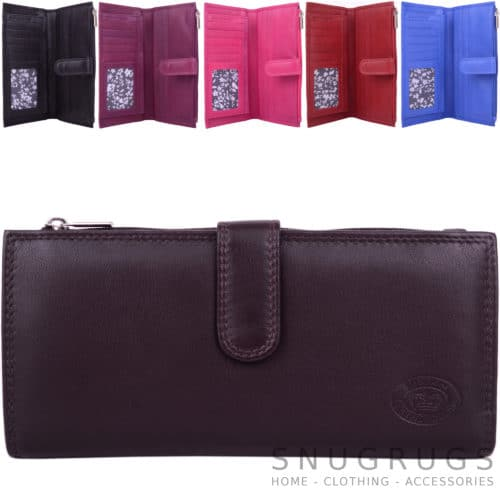 Soft Leather Slim Purse RFID Protected