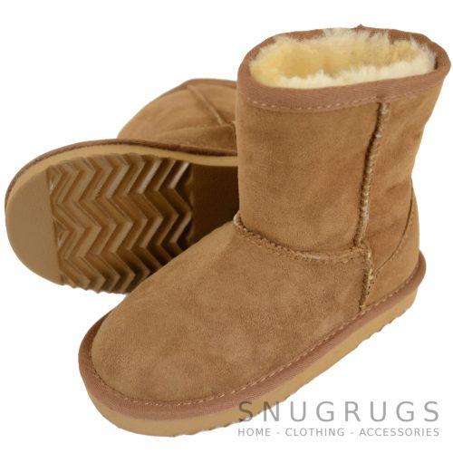 Pixie - Kids Sheepskin Boot - Chestnut