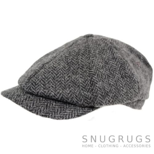 8 Piece Tweed Cap - Grey
