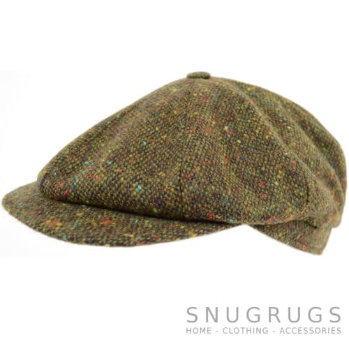8 Piece Tweed Cap - Green