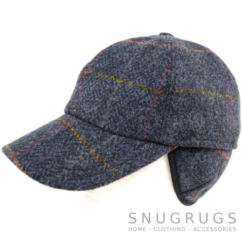 Tweed Baseball Cap - Navy