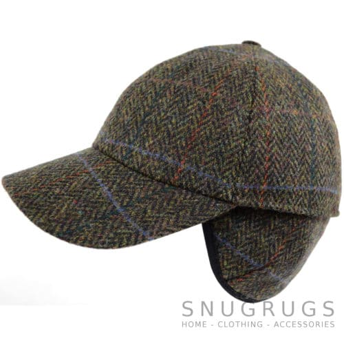 Tweed Baseball Cap - Dark Brown