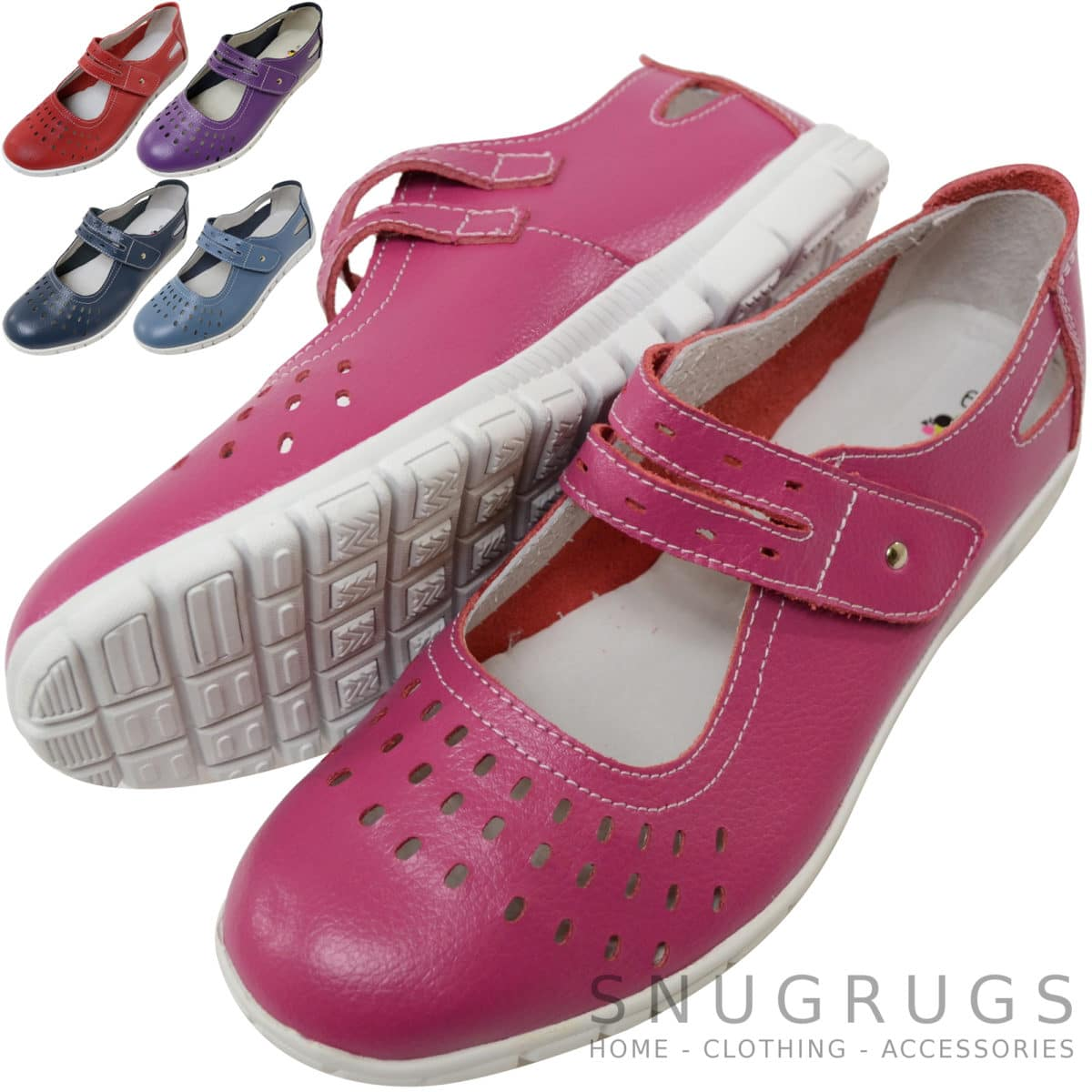 Snugrugs Leather EEE Wide Fitting Casual Shoes / Sandals