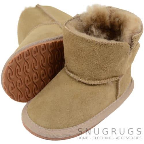 Baby Full Sheepskin Boots / Booties - Mink
