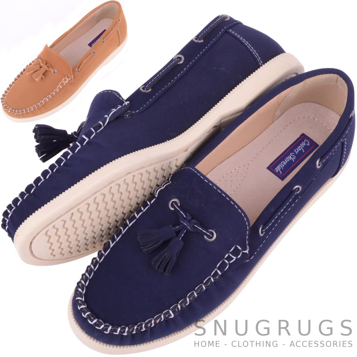 smooth suede casual formal boat deck shoes snugrugs