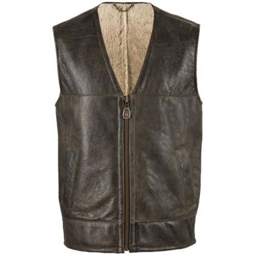 Giles - Sheepskin Gilet with Nappa Finish